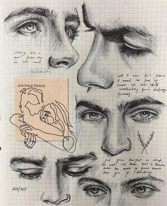 Gcse art sketchbook fashion drawings 36 New Ideas Cool Art Drawings, Pencil Art Drawings, Art Drawings Sketches, Drawing Art, Dream Drawing, Makeup Drawing, Portrait Sketches, Couple Drawings, Drawing Ideas