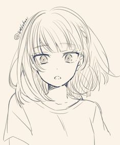 Hair Drawing Reference Hairstyles Anime Girls 32 New Ideas Anime Drawings Sketches, Cool Art Drawings, Anime Sketch, Drawing Faces, Easy Drawings, Pencil Drawings, Anime Character Drawing, Manga Drawing, Manga Art