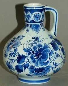 Delft Blue Jug Vase Porceleyne Fles Holland | eBay