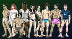 The entire collection of Teen Wolf paper dolls courtesy of yours truly... and The BACKLOT!