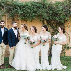 Long white Lace off Shoulder Bridesmaid Dresses