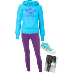 """want this outfit....""""Adidas Purple"""" by musicalmallory on Polyvore"""
