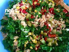 Kavrulmuş Şehriyeli Nefiss Gün Salatası Cobb Salad, Salsa, Mexican, Ethnic Recipes, Food, Essen, Salsa Music, Meals, Yemek