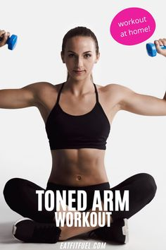 You can have toned arms at home thanks to this free workout video. Amazing toned arms that will have you loving the tank tops this summer. Workout and strengthen your arms this summer with a simple arm workout. Get a great workout with these basic arm routines.  #armworkout #fitbody #workoutathome #workoutvideo Forearm Workout, Tone Arms Workout, Arm Workouts At Home, Fun Workouts, Quick Full Body Workout, Free Workout, Exercise Activities, Exercise Routines, Post Workout Stretches