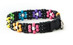 Our Flower Power is one of our signature beaded dog collars.  We use durable products that create a unique look for your four-legged best friend.  All of our beaded dog collars can withstand 225 pounds of pulling tension, making them durable as well as beautiful.