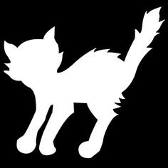 Free Stencils - 34 free Halloween stencils - free printable - I've always wanted a cat stencil like that.