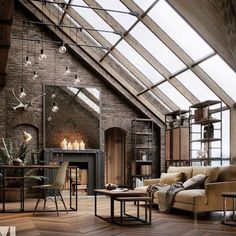 The concept of Industrial home design is very much in nowadays. Such a design not only makes your home look attractive but also enhances its beauty in each and every aspect. The Industrial home design Industrial Interior Design, Industrial House, Urban Interior Design, Modern Design, Industrial Loft Apartment, Industrial Interiors, Warehouse Apartment, Industrial Chic Decor, Warehouse Living
