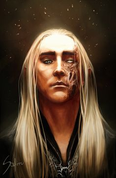 Elf Fanart the hobbit portrait fantasy King Digital Painting Thranduil