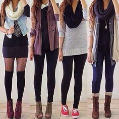 different kinda of hot cutie outfits;)