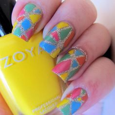mosaic nails - Instagram photo by @It's All About the Polish