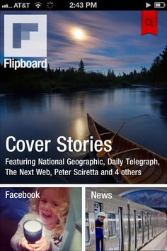 Flipboard is a great personalized magazine style app that is now available for both the iPad and iPhone.