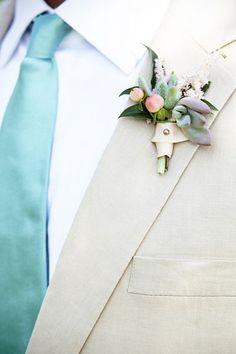 groom - aqua tie