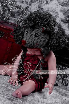 $4.99~Ravelry: Paris the Poodle (All Sizes) pattern by Boomer Beanies