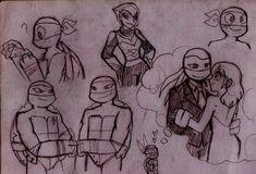 TMNT doodles by RednBlackDevil on deviantART