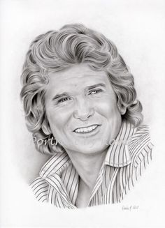 Michael Landon by rondawest {from USA} ~ pencil portrait Michael Landon, Celebrity Drawings, Celebrity Portraits, Pencil Portrait, Portrait Art, 3d Drawings, Pencil Drawings, Pop Art, Caricature Drawing