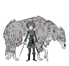 Arya and Nymeria by Daniel Krall