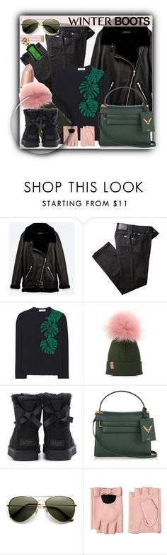 """""""#1289@"""" by elena-gienko ❤ liked on Polyvore featuring Jakke, BRAX, Valentino, UGG, Karl Lagerfeld and winterboots"""