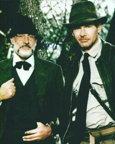 Sean Connery & Harrison Ford as Prof. Henry Jones & Indiana Jones