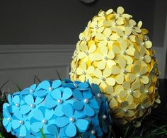 diy paper flower eggs for easter Easter Egg Crafts, Easter Projects, Easter Eggs, Easter Ideas, Spring Crafts, Holiday Crafts, Holiday Fun, Holiday Decor, Craft Day