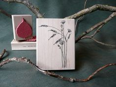 Prairie Flowers rubber stamp from by oldislandstamps on Etsy, $12.75