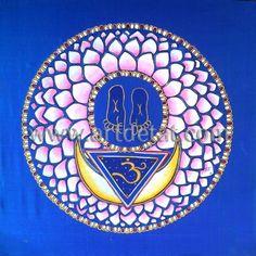 """Chakra Sahasrara - El Chakra de la Coronilla es el séptimo de los centros de energía del cuerpo humano. Los seis Chakras anteriores nos conducen al Sahasrara, cuyo objetivo es la iluminación, la autorrealización, la unidad y el Ser divino. Este Chakra es el punto culminante de toda experiencia mística, en él experimentamos el estado de trascendencia de la realidad mundana al infinito.  """"Los Chakras – Mandalas de energia"""" de Tat Estrada. Edit. mtm"""