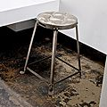 Metal Stackable Tufted Stool (India) | Overstock.com Shopping - The Best Deals on Bar Stools
