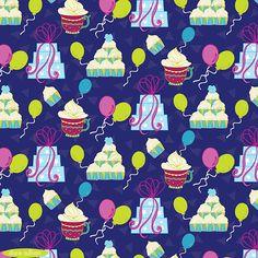 A fun birthday pattern by Pattern Camper & Surface Pattern Designer Diane Sullivan.