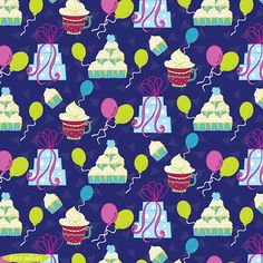 A fun birthday pattern by Pattern Camper & Surface Pattern Designer Diane Sullivan.
