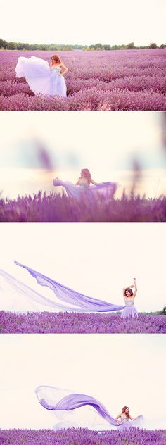 Romantic Provence Lavender Field Photo Session from Emm and Clau