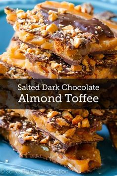 Get ready –this is the best DIY candy recipe ever! Make some delicious Salted Dark Chocolate Almond Toffee for a holiday gift for your friends –they'll definitely feel loved!