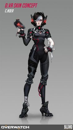 (By Olga Khariton) Overwatch Drawings, Overwatch Fan Art, Girls Characters, Female Characters, Armor Concept, Concept Art, Character Concept, Character Art, Overwatch Skin Concepts