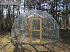 16 ft Geodesic Dome Outdoor Aviary, Flight Cage, Animal Pen with Avian Netting Verkauf 16 ft Geodesic Dome Outdoor Volierenflug von SunriseDomes Rhode Island, Jacuzzi Covers, Glamping, Geodesic Dome Kit, Pond Covers, Flight Cage, Tube Acier, Small Greenhouse, Greenhouse Ideas