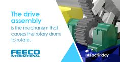 The drive assembly is the mechanism that causes the rotary drum to rotate. #facts #factfriday #rotarydrum #rotarydrums #rotarydryer #rotarydryers #thermalprocessing #driveassembly