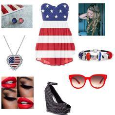 fourth of July outfit by leticiacamacho on Polyvore featuring Restricted, Bling Jewelry, 1928 and Equipment