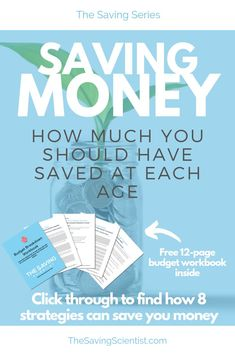 With saving money, have you ever wondered how much you should have stashed away by a certain age? Well, this guideline can help you! Best Money Saving Tips, Ways To Save Money, Saving Money, Financial Tips, Financial Planning, Meal Planning, Saving For Retirement, Early Retirement, Budgeting Money