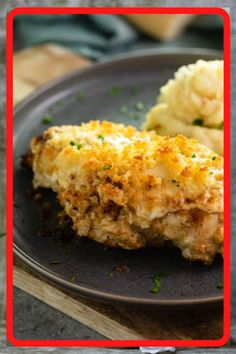 Copycat Longhorn Parmsan Crusted Chicken recipe has an easy marinade and a delicious Parmesan Crust thats baked on top It tastes JUST like the restaurant version Chicken Marinades, Chicken Recipes, Marinade Chicken, Recipe Chicken, Steak Recipes, Parmesan Crusted Chicken, Garlic Parmesan, Good Food, Yummy Food