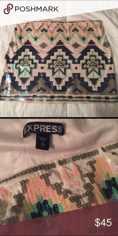 Express Sequence Skirt NEW w/o tags Express skirt. Size: M. Length: 14in. Width: 16in. Express Skirts