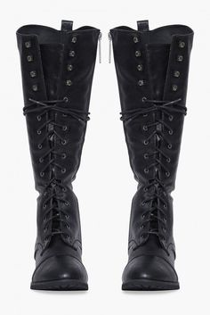 Outlaw Lace Up Boots in Black | Necessary Clothing