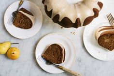 Roasted pear cake with brown butter glaze from Food52 by Yossy Arefi
