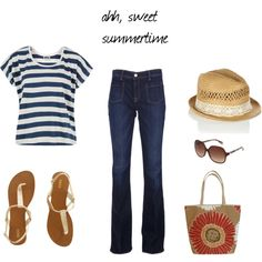 sweet casul summer, created by heidifredrick on Polyvore