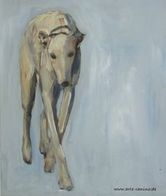 Greyhound, 60 x 50 cm , Acrylic on canvas, artist Claudia Gaede