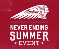 Never Ending Summer Event!  $1,500 Credit for Accessories or Apparel when you purchase a 2015 Indian Chieftain® or Indian Chief® Vintage  #Motorcycles #Riding #Promotions #Summer #ForSale