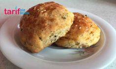 Baharatlı Poğaça Baked Potato, Hamburger, Potatoes, Bread, Baking, Ethnic Recipes, Food, Potato, Brot