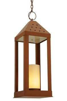 "11.5 Inch Sq Wigodsky Ark Lantern Pendant - 11.5 Inch Sq Wigodsky Ark Lantern Pendant Theme: RUSTIC MISSION LODGE ACRYLIC Product Family: Wigodsky Ark Product Type: CEILING FIXTURE Product Application: PENDANT Color: 3EA EARTH #106390 NO GLASS.W/6"" ACRYLIC CANDLE Bulb Type: MED Bulb Quantity: 1 Bulb Wattage: 60 Product Dimensions: 40""-61H x WPackage Dimensions: NABoxed Weight: 34 lbsDim Weight: 65 lbsOversized Shipping Reference: NAIMPORTANT NOTE: Every Meyda Tiffany item is a unique…"