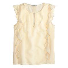 NWT J crew  women   Silk cascade blouse item A9872 2 warm ivory $49 #JCrew #Blouse