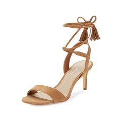 78e748f0d2 424 Fifth 7363 Womens Giovanna Tan Slingback Heels Shoes 9 Medium (B,M)
