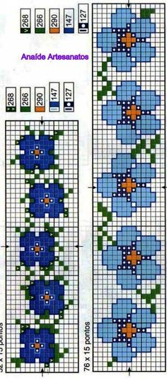 This post was discovered by Gordana B. Discover (and save!) your own Posts on Unirazi. Cross Stitch Bookmarks, Cross Stitch Borders, Cross Stitch Flowers, Cross Stitch Charts, Cross Stitch Designs, Cross Stitching, Cross Stitch Embroidery, Cross Stitch Patterns, Loom Bracelet Patterns