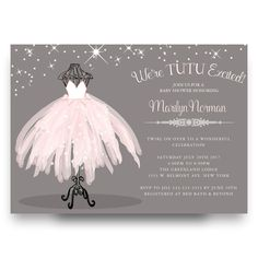 40 best cheap baby shower invitation images on pinterest beautiful pink tutu baby shower invitation ballerina baby filmwisefo