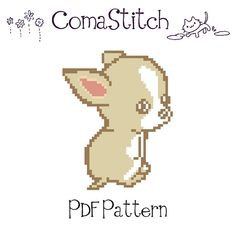 Chihuahua Puppy Cross Stitch Pattern PDF Instant by ComaStitch, $5.00