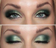 Today's makeup - Green emerald | Helen Torsgården - Hiilens sminkblogg